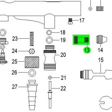 Recambio Aerografo Elite E7201 Caja de Muelle