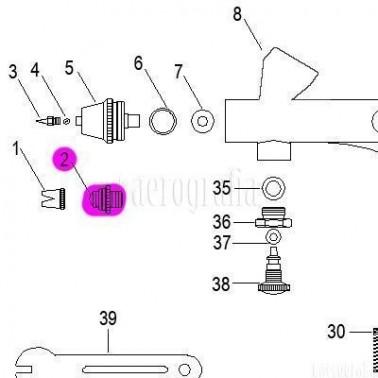 Recambio Aerografo Elite E7208 02 Tapa de Boquilla