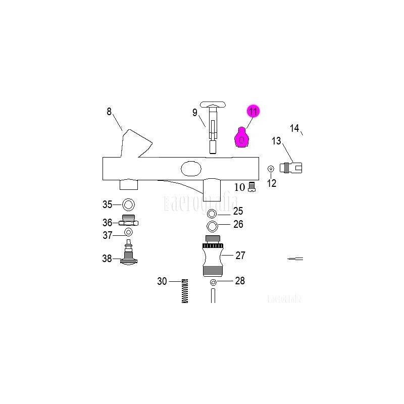 Recambio Aerografo Elite E7208 Palanca Secundaria