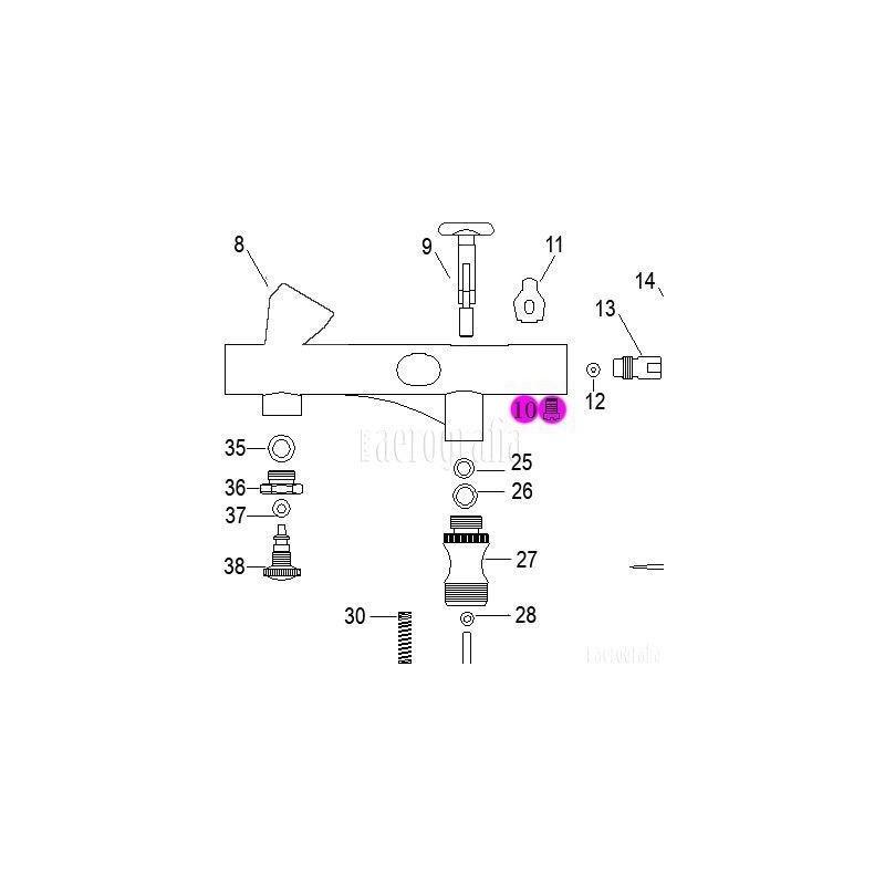 Recambio Aerografo Elite E7208 Tornillo