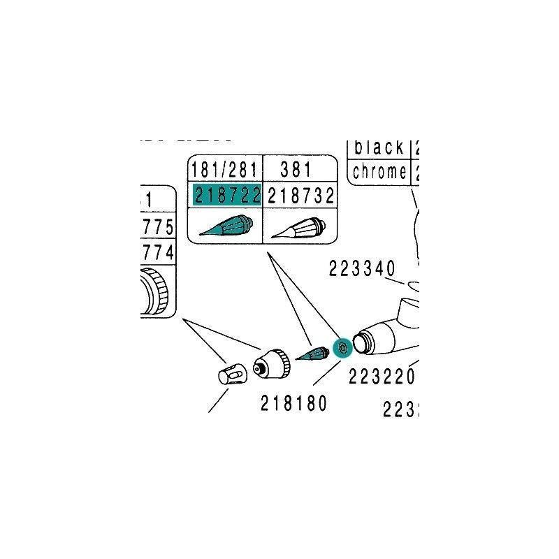 Recambio Aerografo Hansa Hansa 151 181 251 281 581 Boquilla 0.2mm