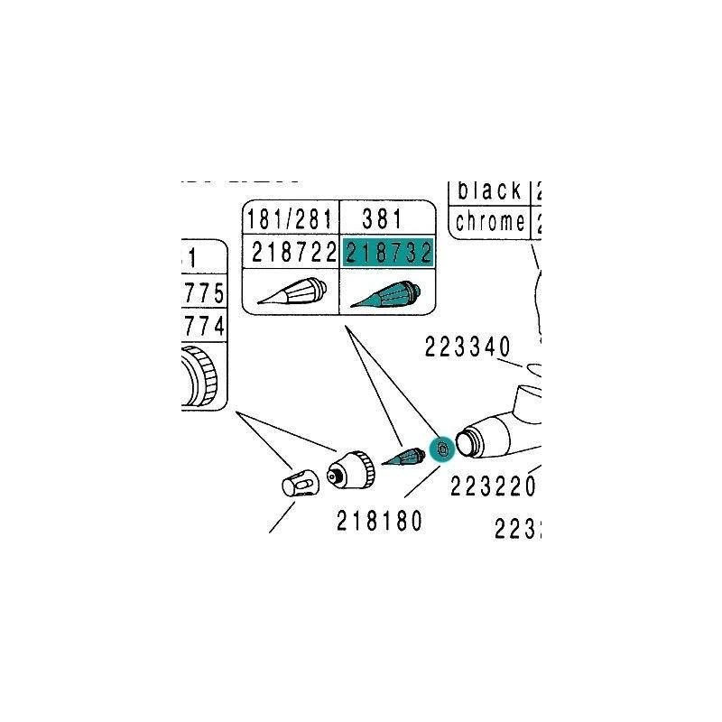 Recambio Aerografo Hansa Hansa 351 381 451 481 681 Boquilla 0.3mm