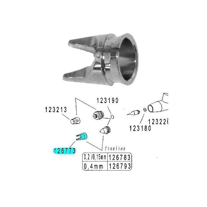 Recambio Aerografo Harder Infinity Tapa Aguja