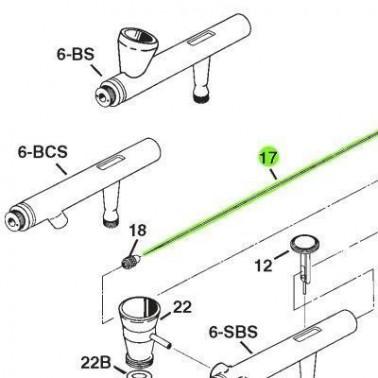 Recambio Aerografo Iwata Eclipse Aguja 0.5