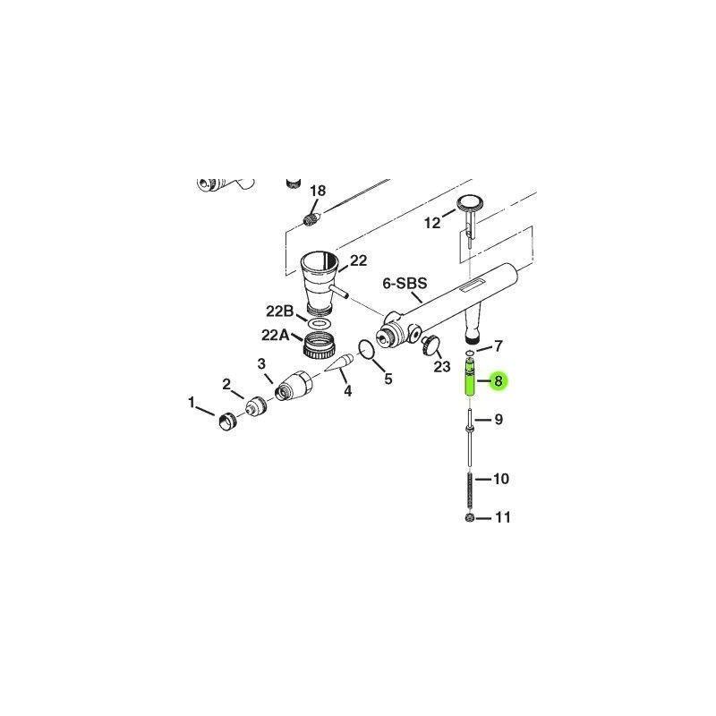 Recambio Aerografo Iwata Eclipse Valvula Guia