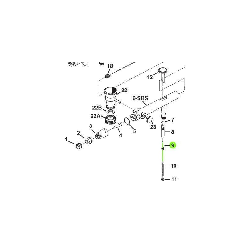 Recambio Aerografo Iwata Eclipse Valvula