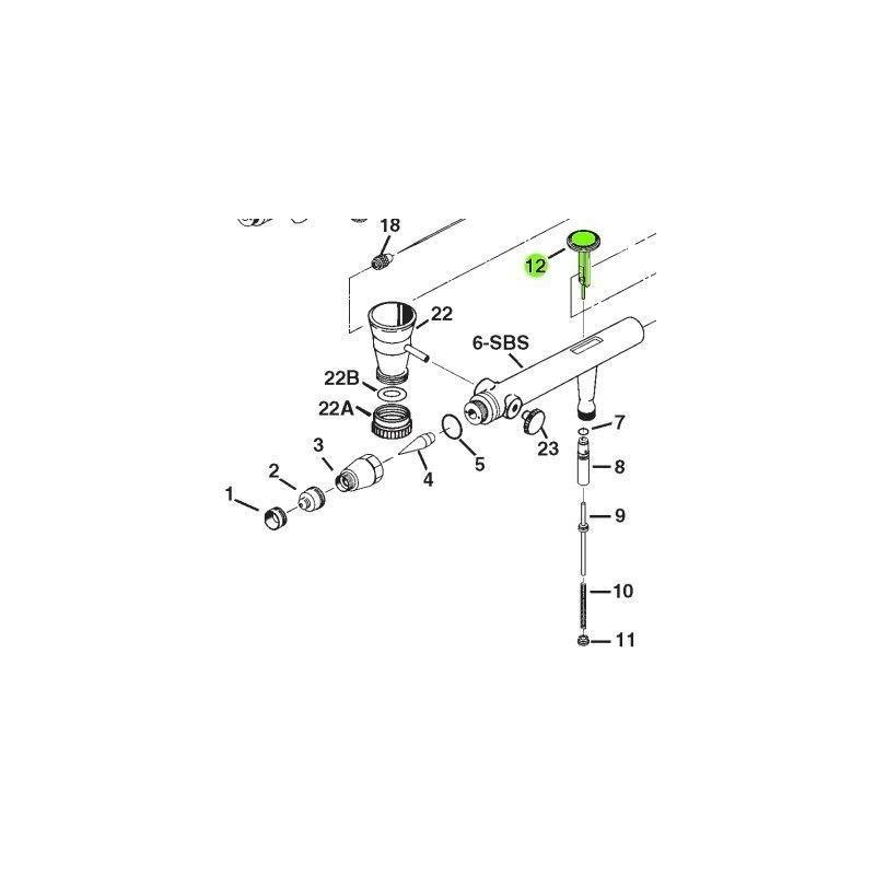 Recambio Aerografo Iwata Eclipse Gatillo