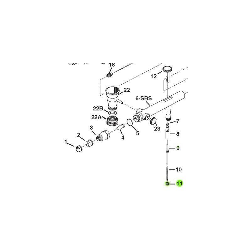 Recambio Aerografo Iwata Eclipse Tuerca Valvula Aire