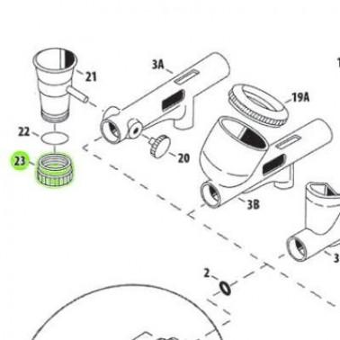 Recambio Aerografo Iwata Custom Micron Tapa Inferior Deposito
