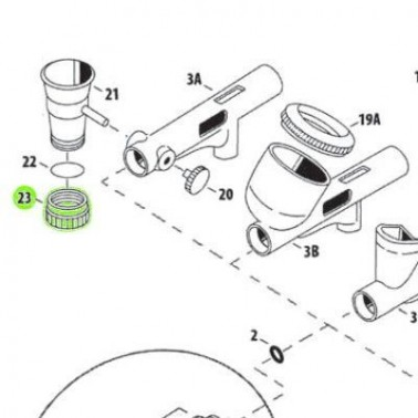 Recambio Aerografo Iwata Tapa Inferior Deposito 3,5ml