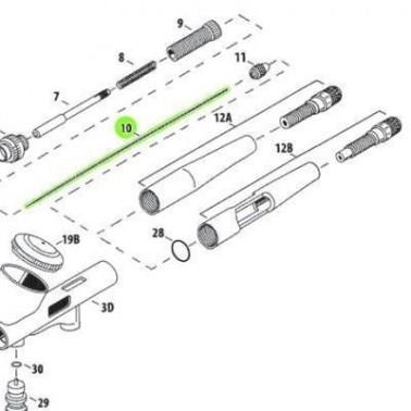 Recambio Aerografo Iwata Custom Micron Aguja 0.23
