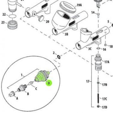 Recambio Aerografo Iwata Custom Micron Obturador