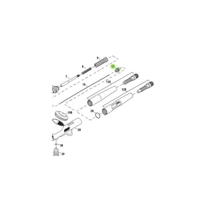 Recambio Aerografo Iwata Custom Micron Tornillo Porta Aguja