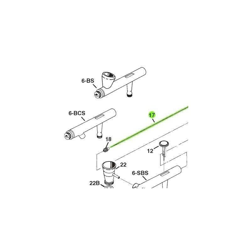 Recambio Aerografo Iwata Eclipse Aguja 0.35