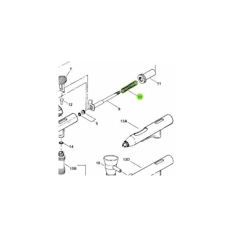 Recambio Aerografo Iwata High Performance Muelle Aguja