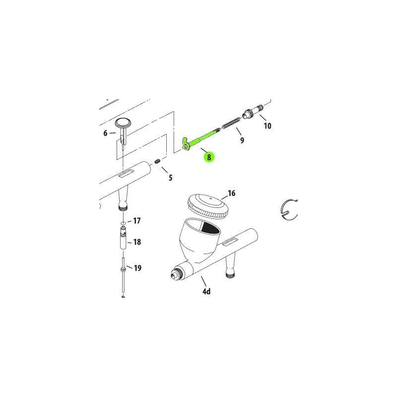 Recambio Aerografo Iwata Revolution Porta Aguja