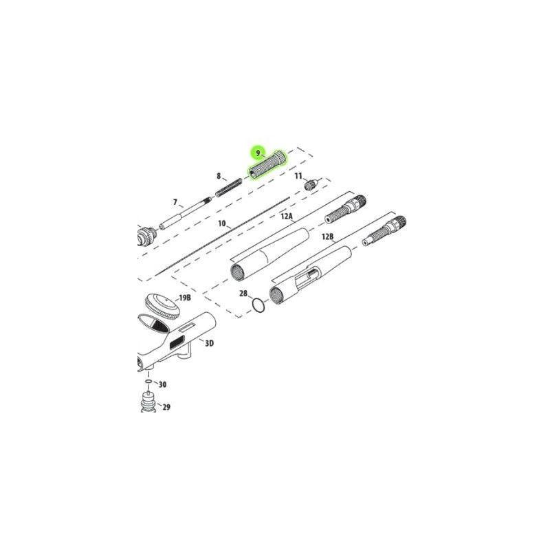 Recambio Aerografo Iwata Custom Micron Tornillo Ajuste Muelle