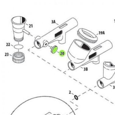 Recambio Aerografo Iwata Custom Micron Tapon Lateral