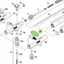 <p>Tapa de depósito de pintura de para aerógrafos Iwata Custom Micron modelo CM-CP, Iwata Eclipse modelo HP-CS, Iwata Hi-Line modelo HP-CH e Iwata High Performance modelo HP-CP</p>