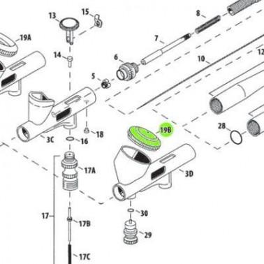 Recambio Aerografo Iwata Custom Micron Tapa Deposito