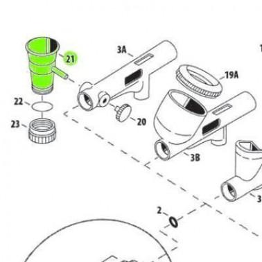 Recambio Aerografo Iwata Custom Micron Deposito Lateral