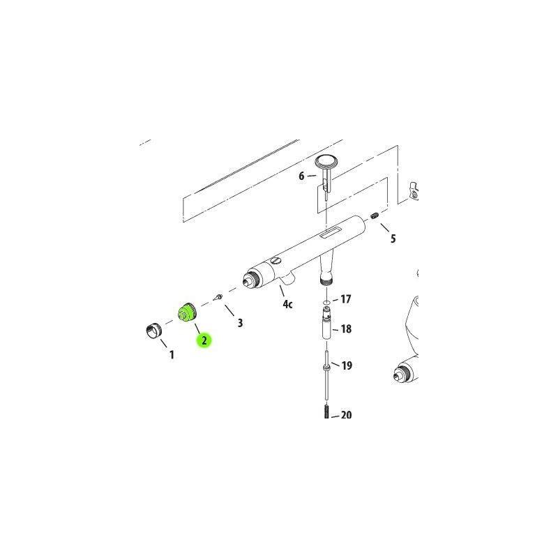 Recambio Aerografo Iwata Revolution Tapa Boquilla 0.5