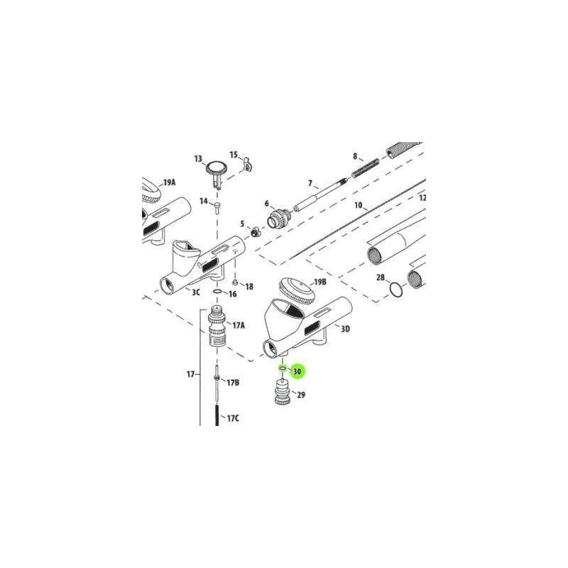 Recambio Aerografo Iwata Custom Micron Junta Valvula