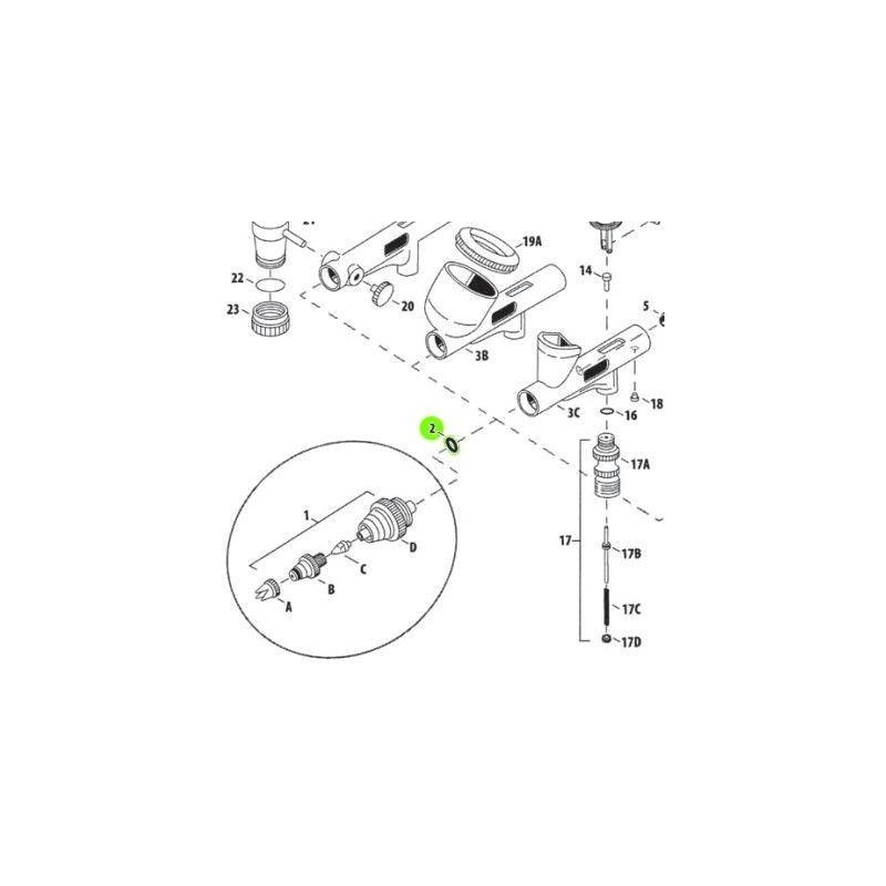 Recambio Aerografo Iwata Custom Micron Junta Obturador