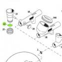 <p>Tapa Inferior del Deposito para Aerógrafos Iwata Custom Micron CM-SB e Iwata Eclipse HP-SBS</p>