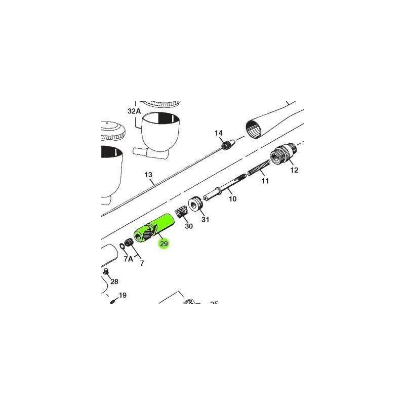 Recambio Aerografo Iwata Revolution Leva Deslizante
