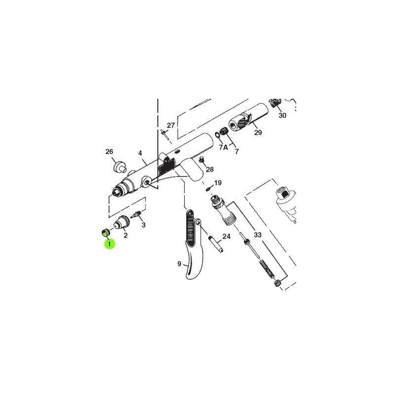 Recambio Aerografo Iwata Revolution Tapa Aguja 0.3