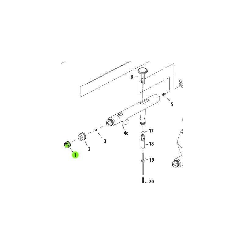 Recambio Aerografo Iwata Revolution Tapa Aguja 0.5