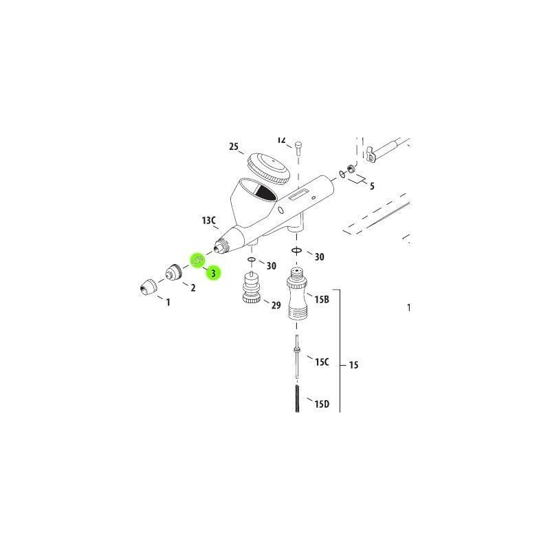 Recambio Aerografo Iwata Hi Line Boquilla 0.3