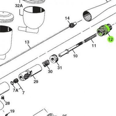 Recambio Aerografo Iwata Revolution Camara Muelle