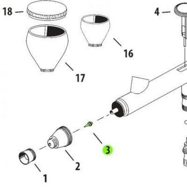 Recambio Aerografo Iwata Neo Boquilla 0.5