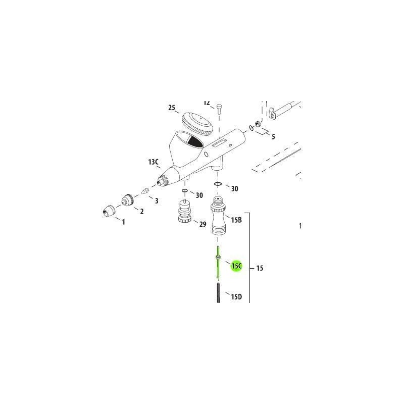 Recambio Aerografo Iwata Hi Line Valvula Aire