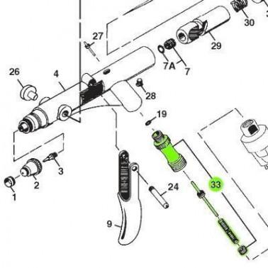 Recambio Aerografo Iwata Revolution Set Valvula Aire