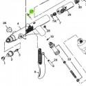 Vastago de la Válvula de recambio para aerógrafos Iwata Revolution modelos HP-TR1/TR2