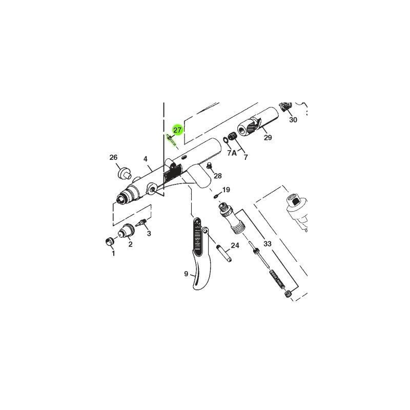 Recambio Aerografo Iwata Revolution Vastago Valvula