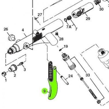 Recambio Aerografo Iwata Revolution Gatillo
