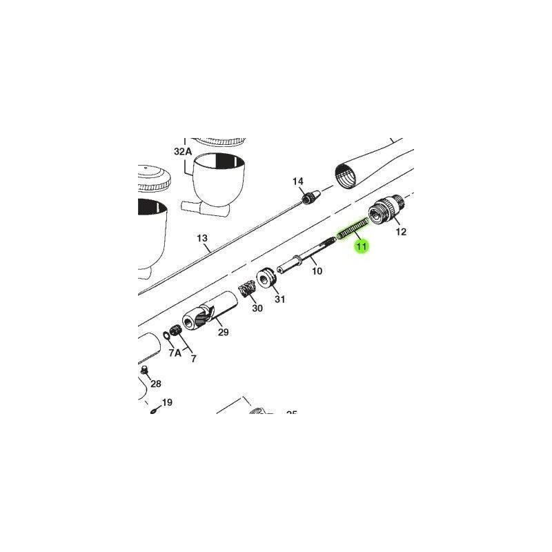 Recambio Aerografo Iwata Revolution Muelle