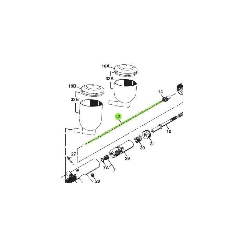 Recambio Aerografo Iwata Revolution Aguja 0.3