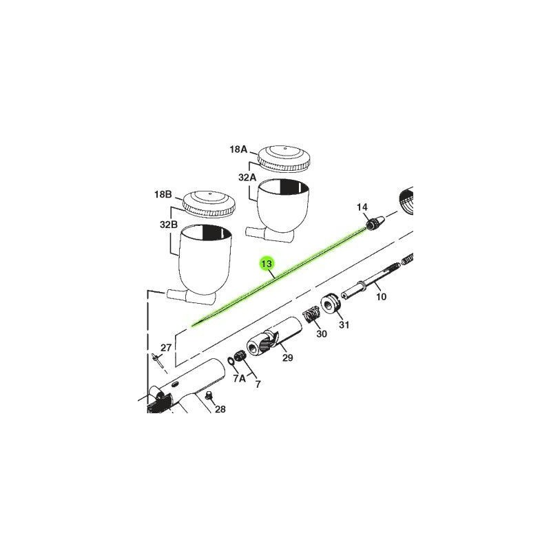 Recambio Aerografo Iwata Revolution Aguja 0.5