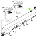 Tornillo Porta Aguja de recambio para aerógrafos Iwata Revolution modelos HP-TR1/TR2