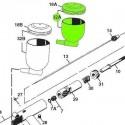 Depósito Lateral 1/3 y Tapa de recambio para aerógrafos Iwata Revolution modelos HP-TR1