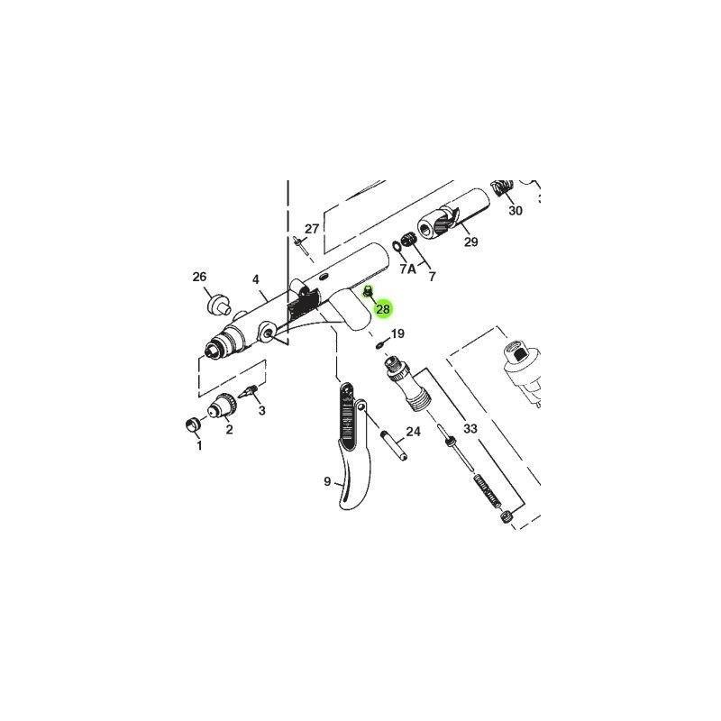 Recambio Aerografo Iwata Revolution Tornillo