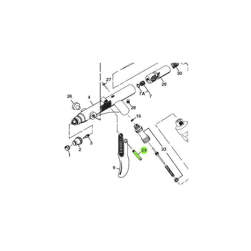 Recambio Aerografo Iwata Revolution Perno Gatillo