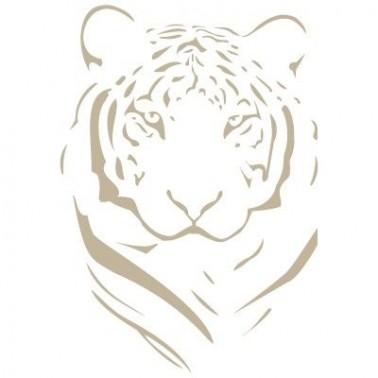 Stencil Aerografia Animal 002 Tigre