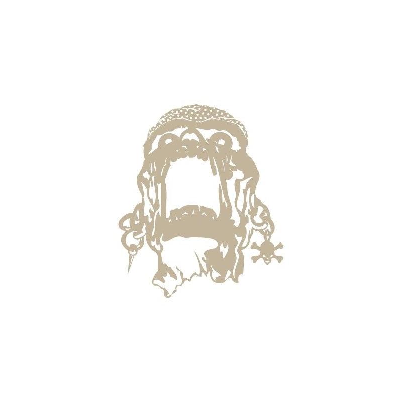 Stencil Aerografia Calavera 009 Pirata