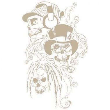 Stencil Aerografia Calavera 012 Trio